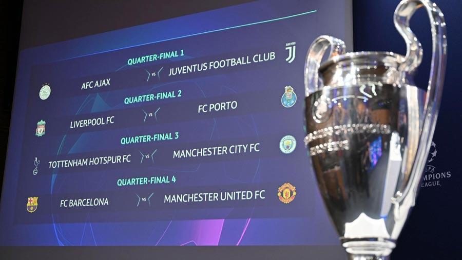 Champions League quarter-final full draw
