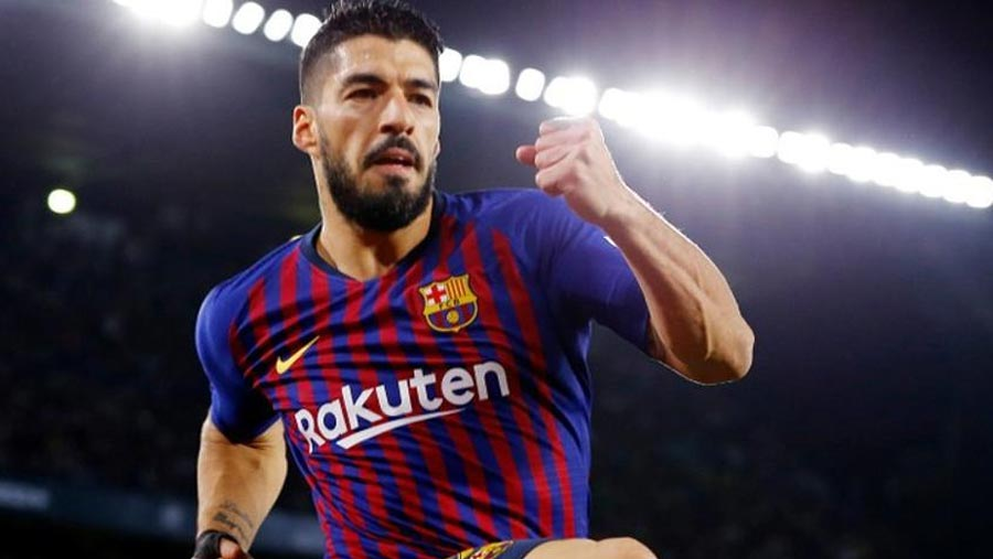 Barca striker Suarez out for two weeks