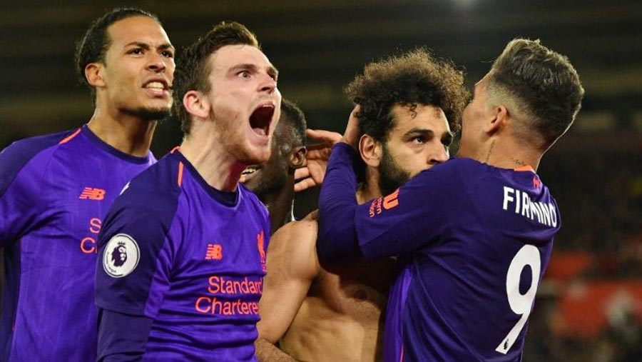 Liverpool beat Southampton to return to top
