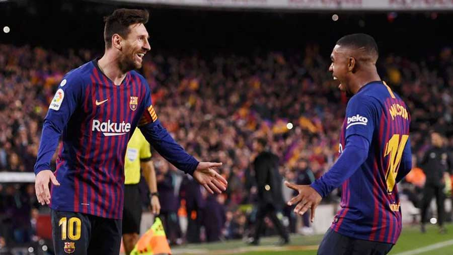 Suarez, Messi send Barca 11 clear