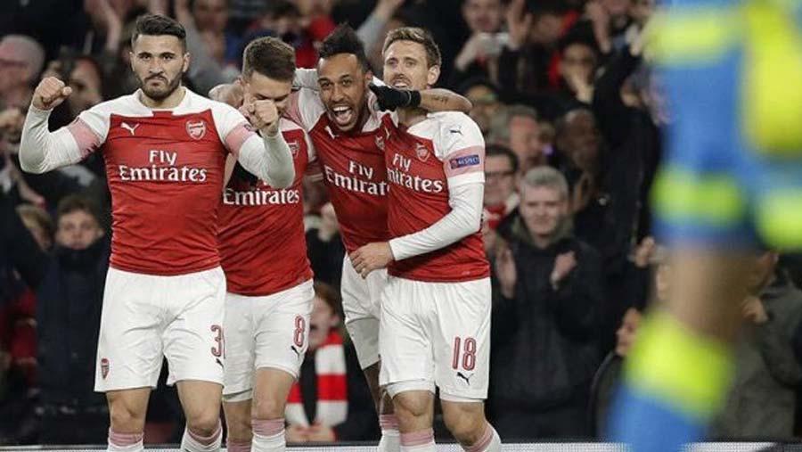 Arsenal take control of Europa quarter-final