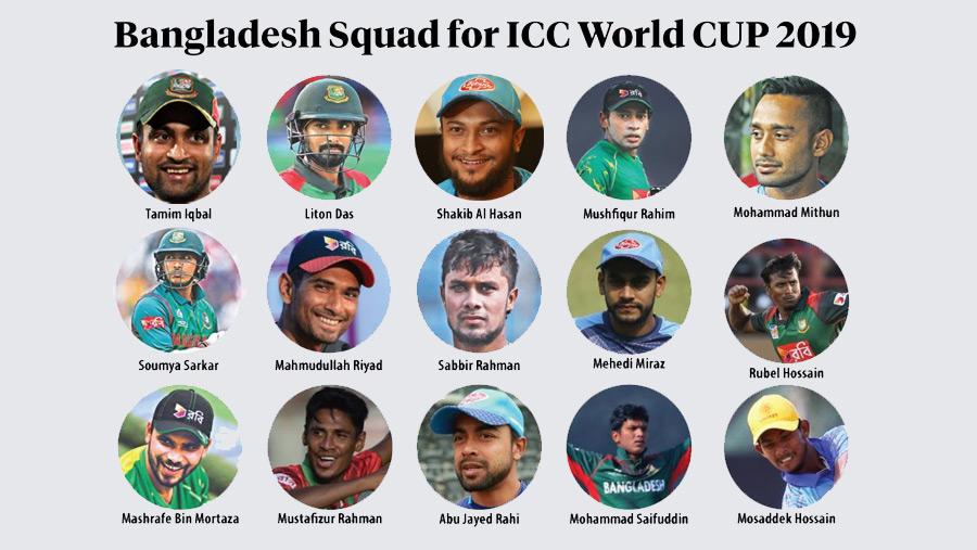 Cricket WC: Bangladesh squad announced