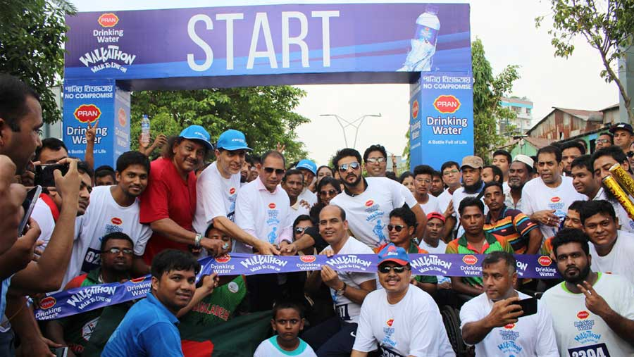 PRAN Drinking Water arranges walkathon to help disabled people
