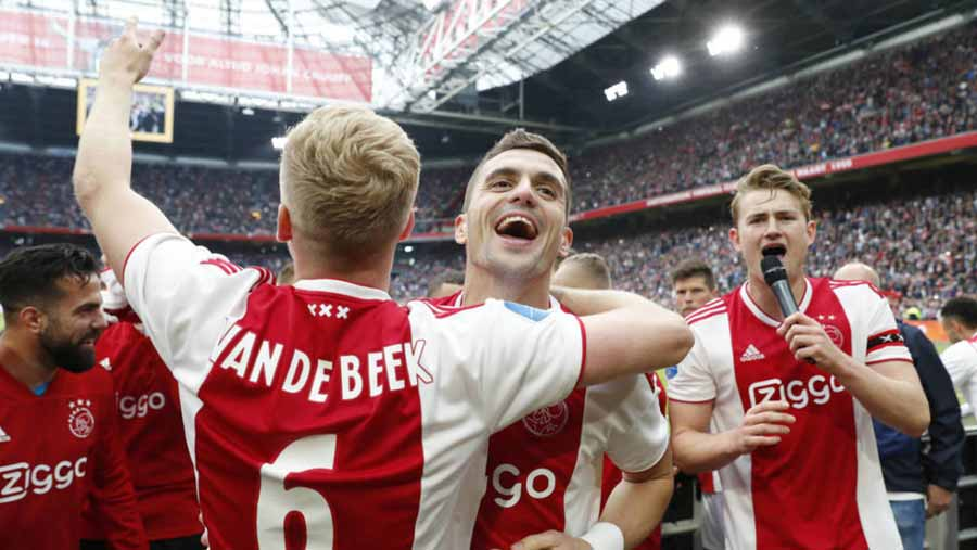 Ajax end season with Dutch double