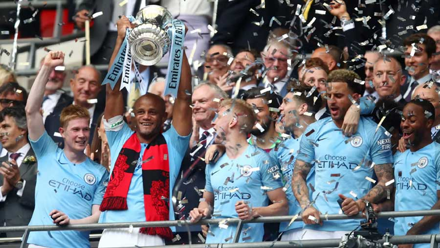 Manchester City win FA Cup to seal treble