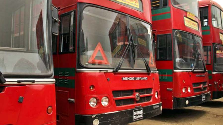 BRTC launches city bus service in Rangpur