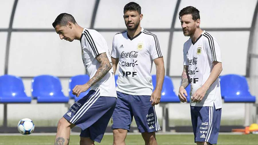 Messi, Di Maria and Aguero in Copa squad