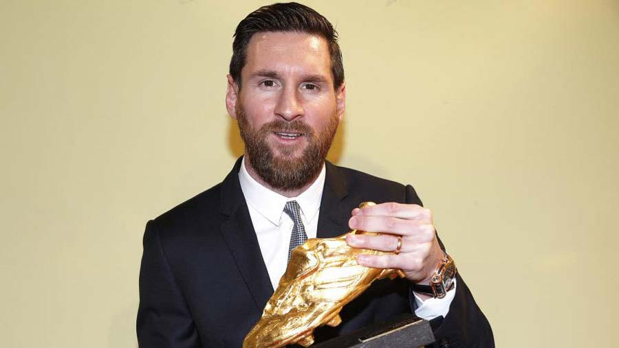 Messi wins sixth European Golden Shoe