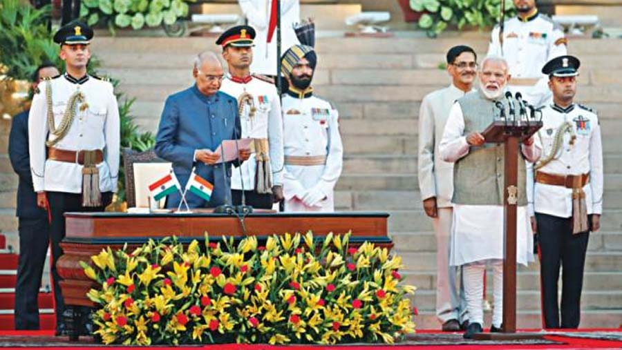 Narendra Modi sworn in as PM