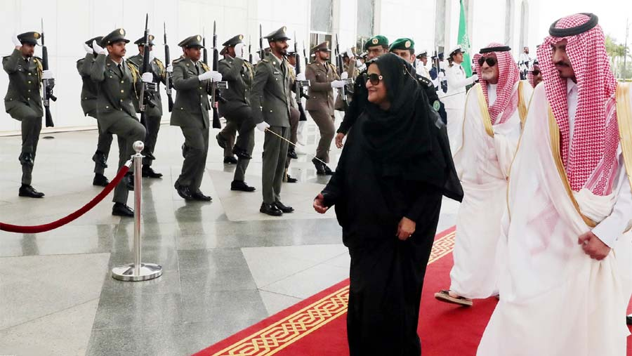 Red carpet rolled out as PM arrives in Saudi Arabia