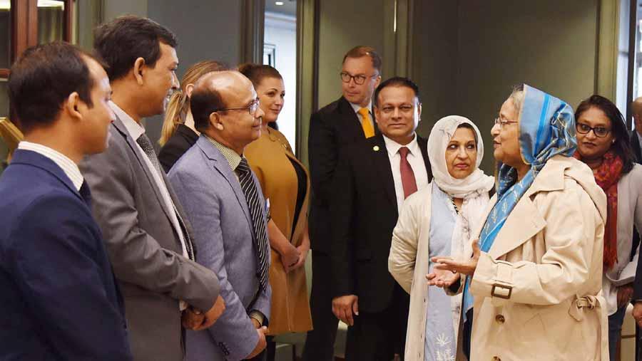 Prime Minister Sheikh Hasina reaches Helsinki
