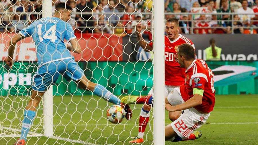 Russia earn most crushing football victory