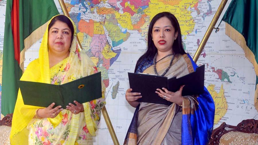 Rumeen Farhana takes oath as MP