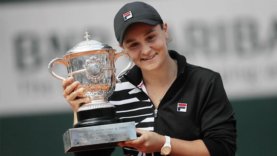 Barty wins French Open for 1st Grand Slam title