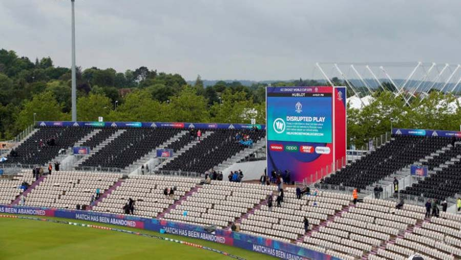 South Africa v West Indies match rained off