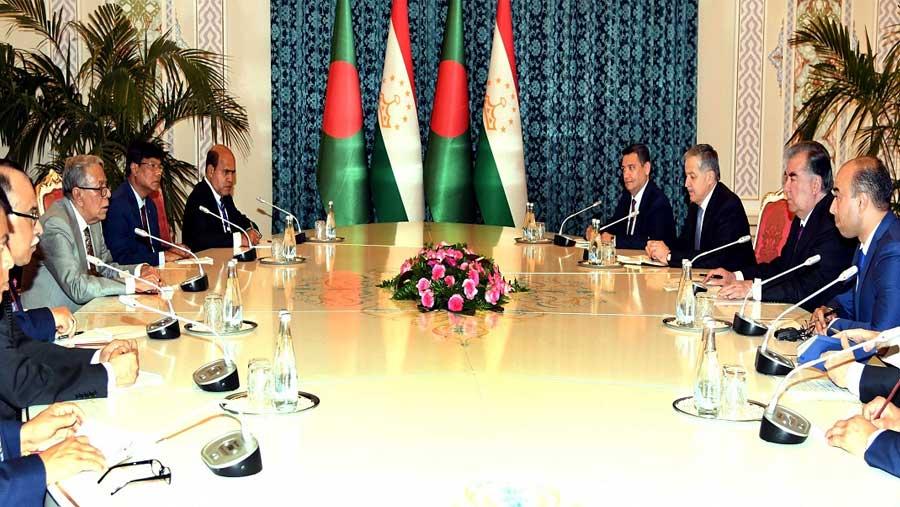 Hamid seeks Tajikistan's support to end Rohingya crisis
