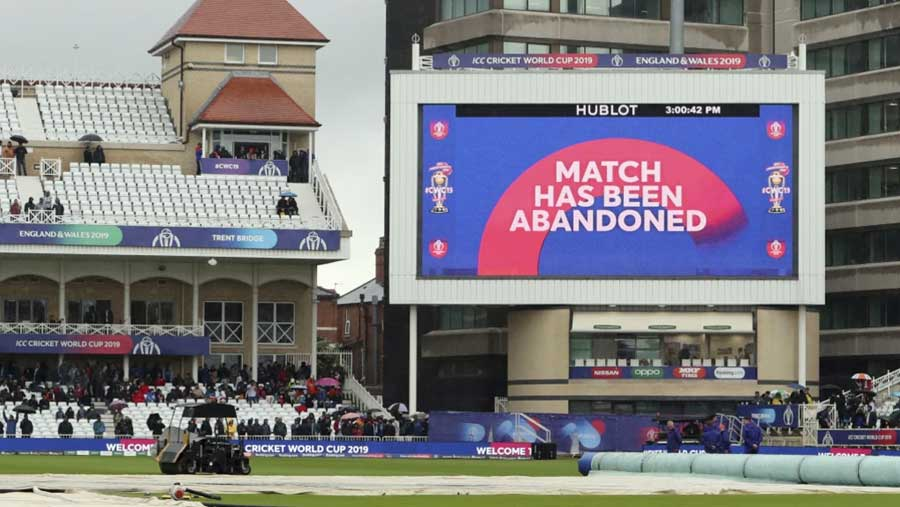 India v NZ: match abandoned due to rain