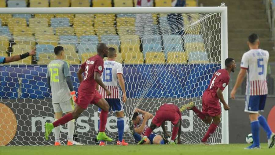 Qatar surprises Paraguay with 2-2 draw
