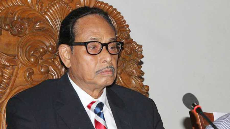 H M Ershad on life support