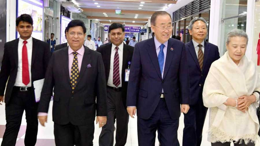 Dr Hilda, Ban Ki-moon wrap up BD visit