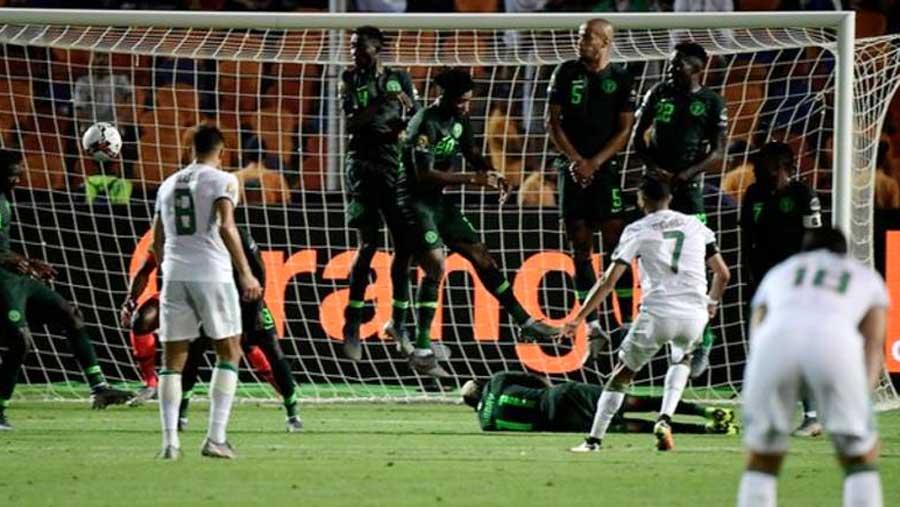 Mahrez's free-kick sends Algeria to final