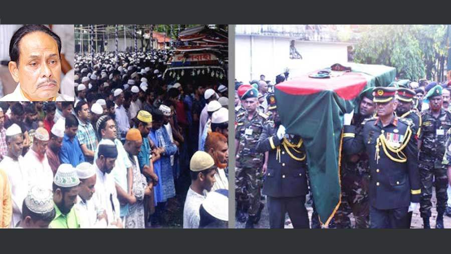 H M Ershad laid to rest with state honour