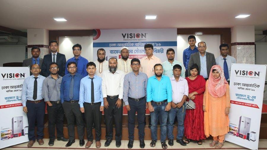 Vision distributes prizes among DITF raffle draw winners