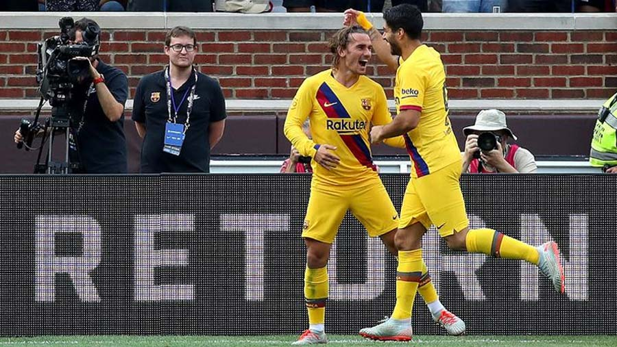 Griezmann nets first Barca goal in win over Napoli