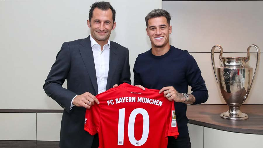 Bayern completes loan signing of Coutinho