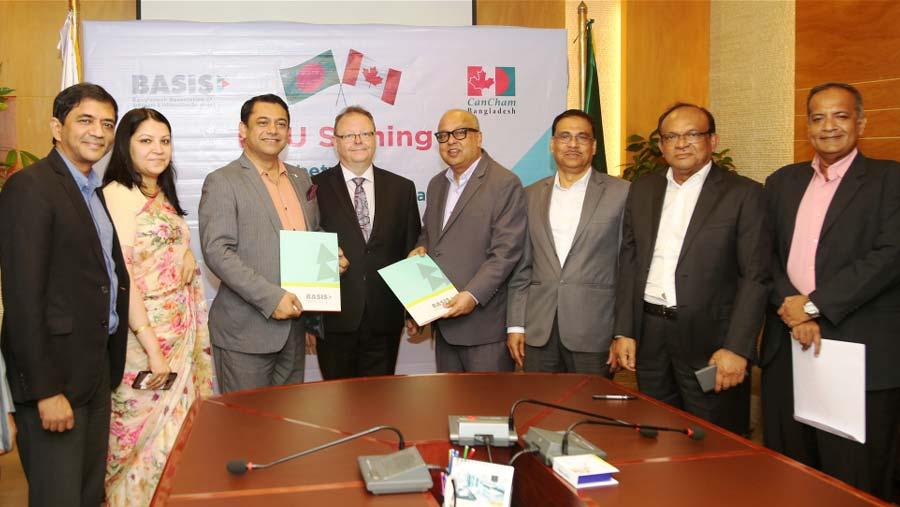BASIS & CanCham Bangladesh sign MoU