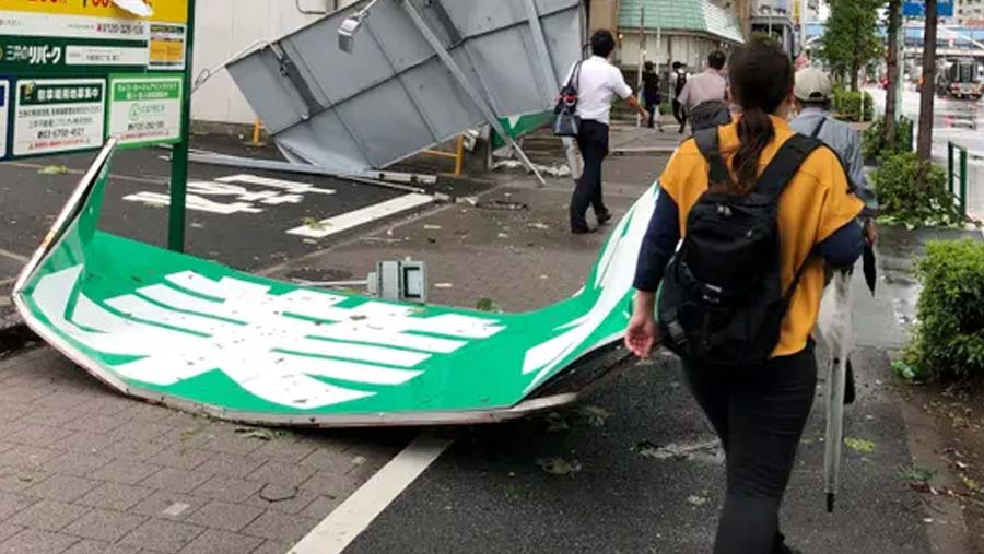 Typhoon Faxai cuts power to 900,000 homes