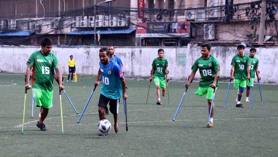 Amputee football held in Dhaka