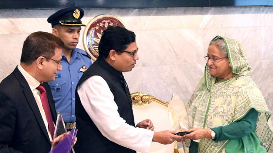 Sheikh Hasina receives three int'l awards