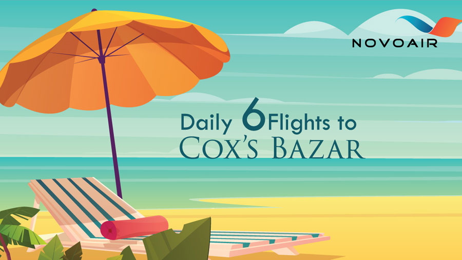 NOVOAIR increases flights to Cox's Bazar
