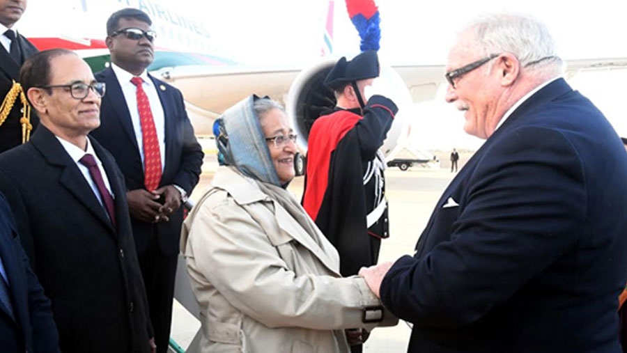 PM Sheikh Hasina reaches Rome