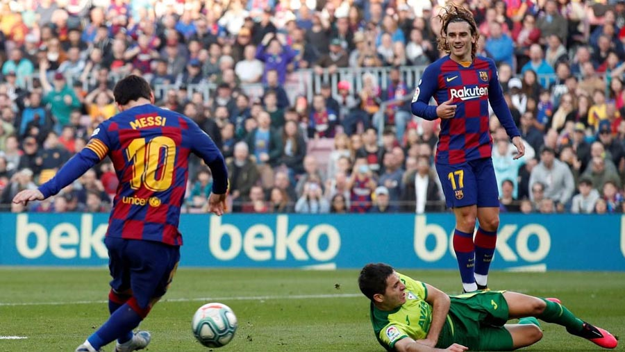 Messi hits four, as Barcelona rout Eibar 5-0