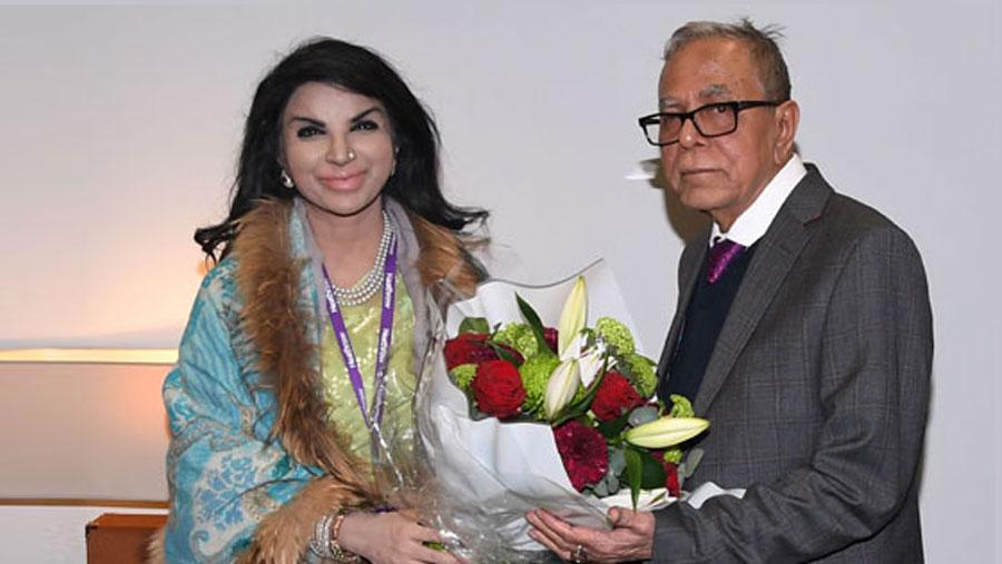 President Hamid reaches London en route to Uruguay