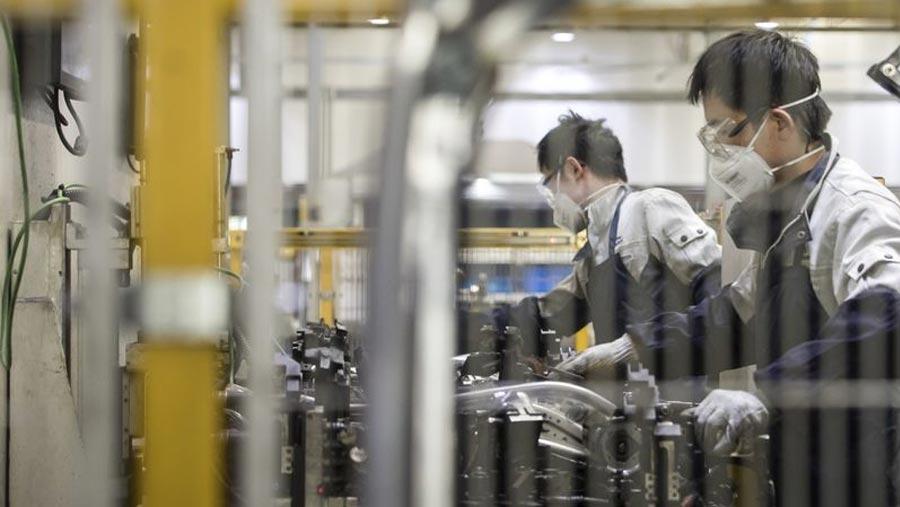 China's February factory activity hits record low