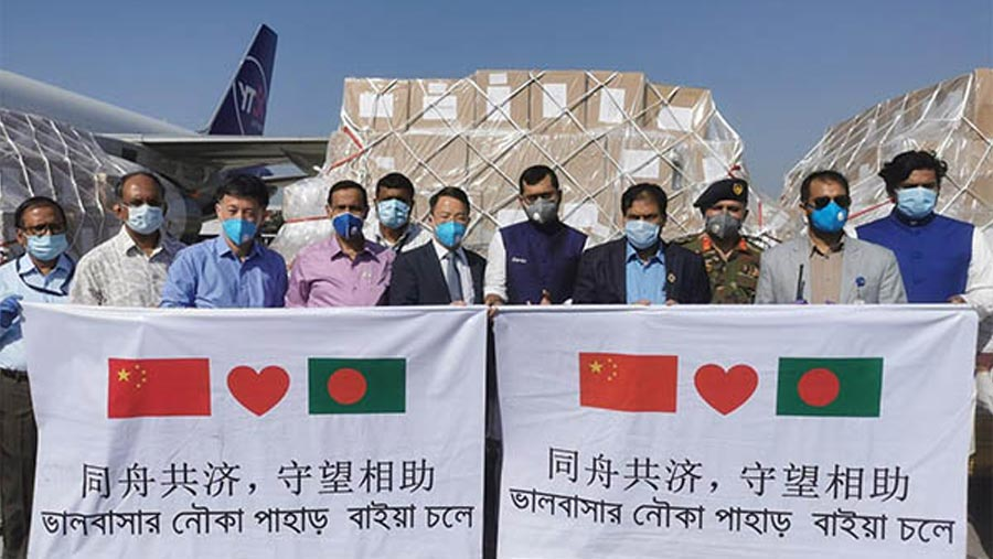 300,000 masks arrive in Dhaka from China
