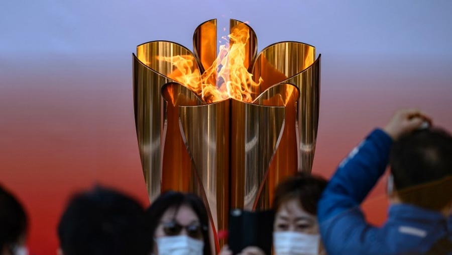 Japan ends Olympic flame display due to coronavirus