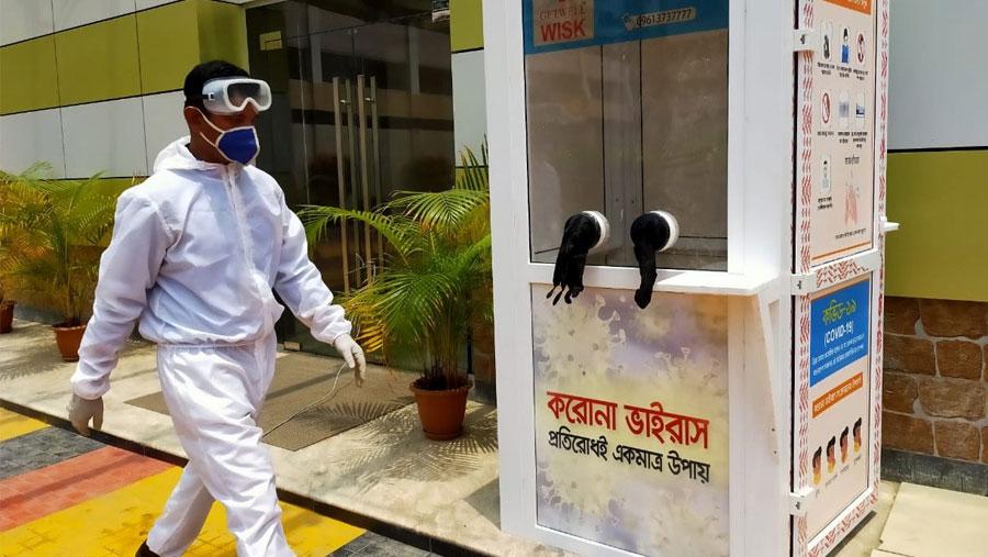 PRAN-RFL donates five booths to collect corona sample