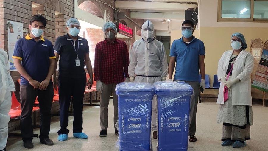 Sera Water tanks donates dustbin to NICVD