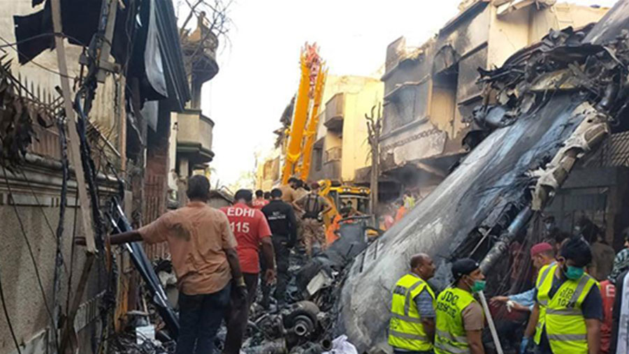 Death toll from Pakistan airline crash now 97