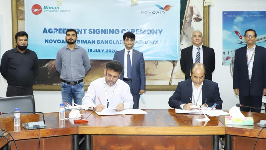 Biman and NOVOAIR sign special re protection agreement for passengers
