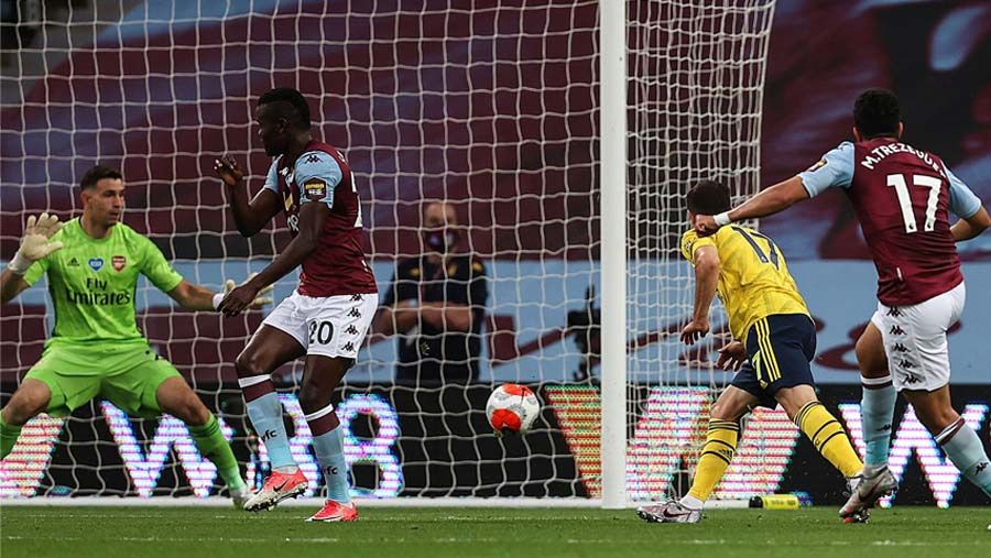 Villa beat Arsenal, out of relegation zone