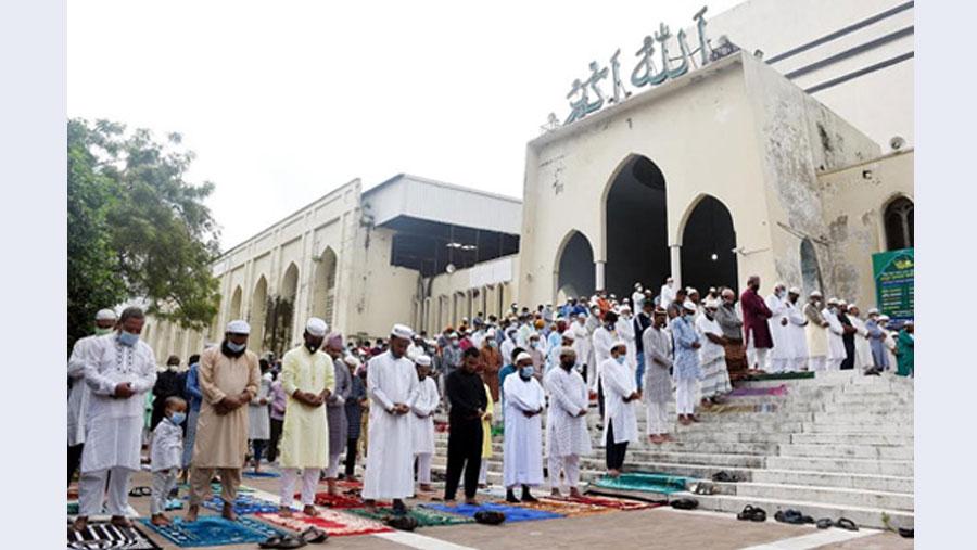 Main Eid jamaat held at Baitul Mukarram Mosque