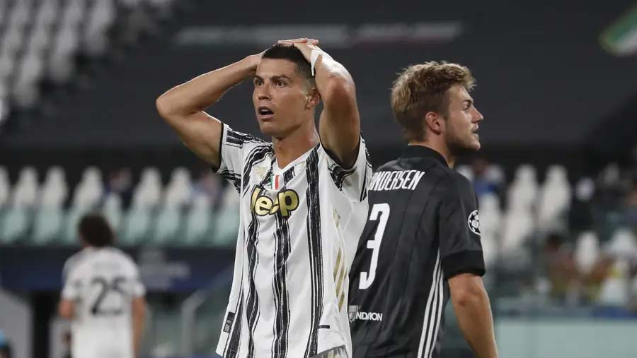Champions League: CR7 double not enough for Juventus