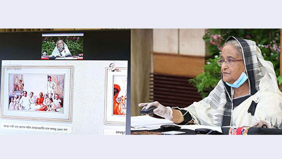 PM inaugurates photo exhibition on Bangabandhu