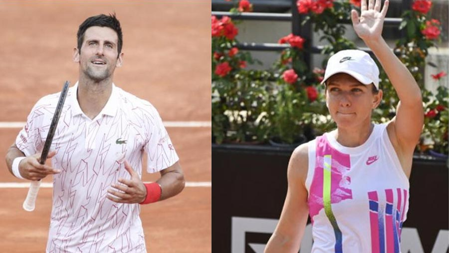 Djokovic, Halep into Italian Open finals
