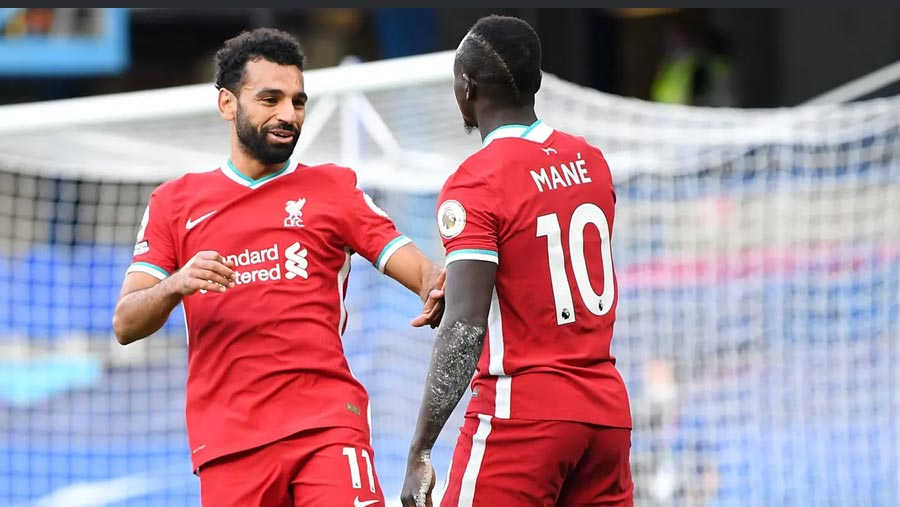 Sadio Mane nets double against 10-man Chelsea